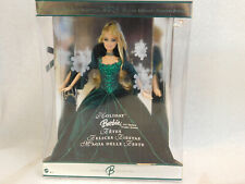 Mattel - Barbie Doll - 2004 Special Edition Holiday Barbie (Green Dress) MIB
