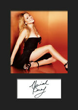 MARIAH CAREY #5 Signed Photo Print A5 Mounted Photo Print - FREE DELIVERY