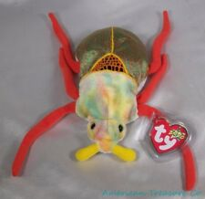 """NEW Ty 2000 Beanie Babies Plush Bright Colors Tie Dye 6"""" Scurry The Beetle Bug"""