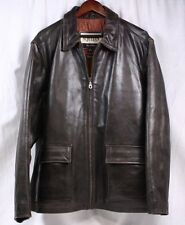WILSONS M. Julian Distressed Brown Leather Bomber Jacket Insulated Coat Men XL