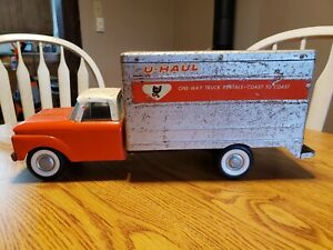 Vintage Nylint Ford U Haul Box Truck Toy with Coil Spring Suspension