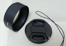 55 mm Metal Lens Hood + 58 mm Cap for Standard Camera Lens 55SC58