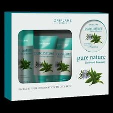 Oriflame Pure Nature Tea Tree & Rosemary Facial Kit For Combination to Oily Skin