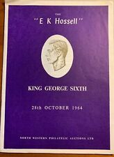 King George Vi British Commonwealth 'E.K. Hossell' Collection, Oct 28, 1964