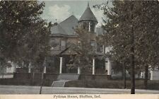 C85/ Bluffton Indiana In Postcard c1910 Knights of Pythias Home 4