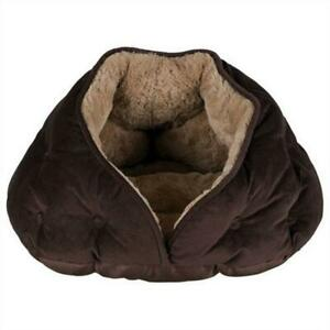 Trixie Malu Cuddly Dog Cave Bed House - Quilted & Suede Look Plush - 47 x 27 cm