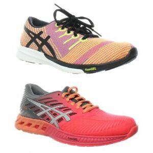 ASICS Womens Fuzex Knit Orange Running Shoes Size 5