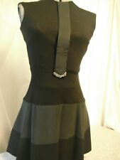 Vintage little black dress with rhinestone tie