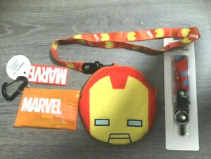 Marvel Iron Man Bundle: Stationery Pouch, Plush Card Pouch and Cellphone Strap