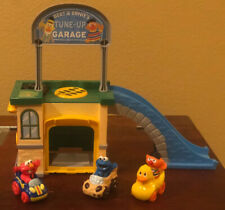 Sesame Street Bert & Ernie Tune Up Garage Play Set WITH SOUNDS and Extra Cars