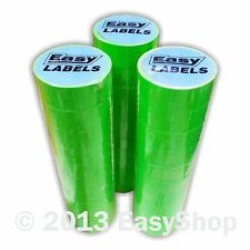 22x12mm Punch Hole CT1 Price Mark Gun Labels Fluorescent Green Peelable Adhesive