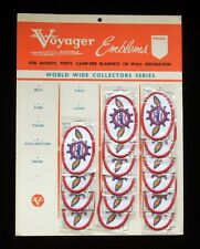 Vintage 1969 SEATTLE PILOTS Voyager Emblems PATCH STORE DISPLAY with 16 Patches