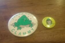 collectors YOUNG NSPCC:  NOODLES and CLAMMY VINTAGE PIN BADGEs