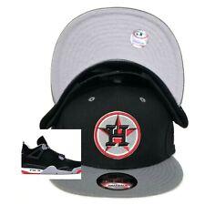 61a7aa20a67bc Astros New Era Snapback hat Jordan 4 Black OG Bred