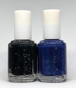 Essie Nail Polish Belugaria 3019 + Lot Of Lux 3023 Black & Blue Matte Glitter