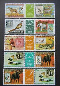1978/1979 REP. DU BENIN FRANCAIS FRANCE WILDLIFE BIRDS VF MNH B317.9 START $0.99