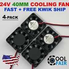 4 Pcs 24V 40mm Cooling Case Fan 4010 40x40x10mm DC RepRap 3D Printer 2-Pin