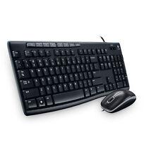 Logitech MK200 Keyboard and Mouse Combo USB Black Keyboard - US Layout