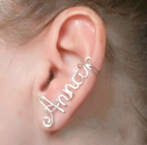 Personalized Name EARCUFF earrings Custom Personalised Jewelry Any Name colors