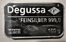 100g Degussa Feinsilber 999,0 Silberbarren Silber Barren