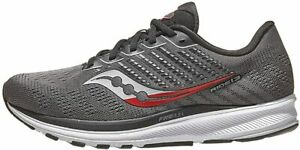 Saucony Men's Ride 13 Running Shoes, Charcoal/Red, 9.5 D(M) US