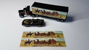 """Smokey & the Bandit-Snowman Trailer set of 2 stickers only- 1"""" x 5"""" trailer size"""