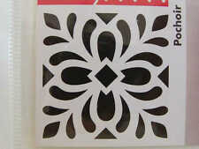 Pochoir Déco style Carreau Ciment mod21 tous supports 15x15cm Artemio Home Deco