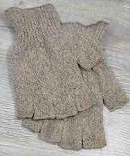 Fox River Medium Weight Fingerless Wool Ragg Gloves Gray/Brown