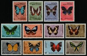 Papua-Neuguinea 1966 - Mi-Nr. 83-94 ** - MNH - Schmetterlinge / Butterflies (I)