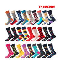 Brand Quality Mens Happy Socks 27Colors Striped Plaid Diamond Cherry Socks