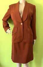 Vintage 60s Hart Schaffner Marx Rust Skirt Suit - Size S/M - EUC