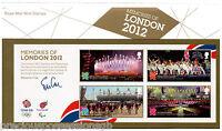 GB Presentation Pack 476 2012 MEMORIES OF LONDON OLYMPICS SHEET