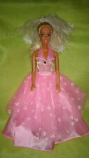 BARBIE VINTAGE MATTEL 1976 principessa abito da sposa pa7 DOLL FLOWER WEDDING