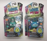 Lot Of 2 NEW Series 2 LOCK STARS Teal Monsters Lock On! Toy Surprises Inside