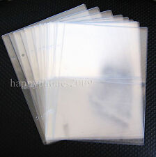 10pcs* 2 Pockets Clear Currency Paper Stamp Protector Insert Pages Sheets Holder