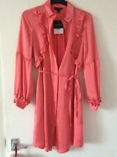 Topshop Salmon Pink Shirt Dress Size 8 NEW WITH TAGS