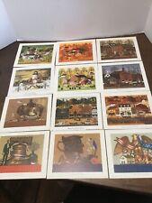 "Bernard Picture Co Prints Litho 6"" X 5"" Lot Of 12 Charles Wysocki Seasons City"