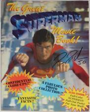 SUPERMAN MOVIE BOOK~SIGNED SARA DOUGLAS~O'HALLORAN~MCCLURE~1981~PHOTO PROOF