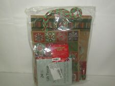 Iconikal Embellished Kraft Christmas Gift Bags with Tissue Inserts 16 Count Set