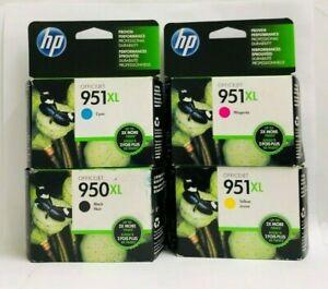 HP GENUINE 950XL Black & 951XL Color Ink 4-PACK In Box  8-2021/10-2021