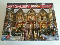 Vintage TCG Winter Mansion 1000 Piece Jigsaw Puzzle Christmas Party 27x19 NEW