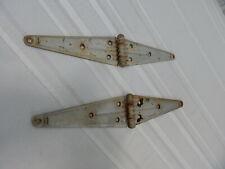 """Vintage! Pair of 16"""" Double Strap Metal Gate/Barn Door Hinges"""