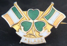 REPUBLIC OF IRELAND Vintage badge Brooch pin In gilt 34mm x 23mm