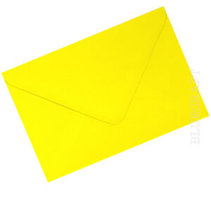 50 x C6 A6 Daffodil Yellow 100gsm Envelopes 114 x 162mm - 6 x 4 inches