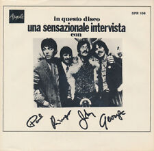 THE BEATLES Una Sensazionale Intervista (Picture Sleeve ONLY) Deccagone NM