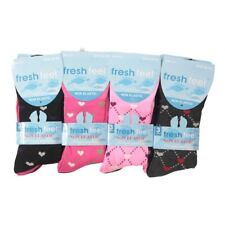 6 PAIRS NON ELASTIC DIABETIC LADIES EASY GRIP LOOSE SOFT TOP HEART DESIGN SOCKS