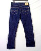 euc Levis 505 Regular Fit Straight Leg Dark Wash Denim Jeans Men's 32 X 34