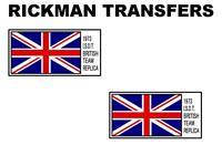 RICKMAN ISDT TANK TRANSFERS DECALS MOTORCYCLE PAIR TRIUMPH