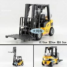 Yellow 1:24 Forklift Diecast Model Construction G Scale Diorama Accessory