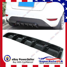 Gloss Black Rear Shark 6 Fin Curved Bumper Lip Diffuser Kit Mouldings Spoilers